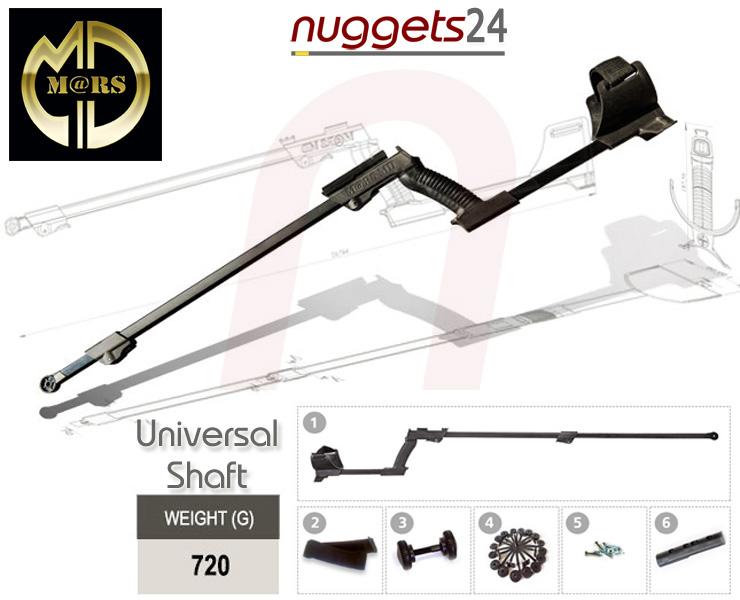 Mars Universal Shaft Metalldetektor kompakt Gestänge für fast alle Metalldetektoren bei nuggets24