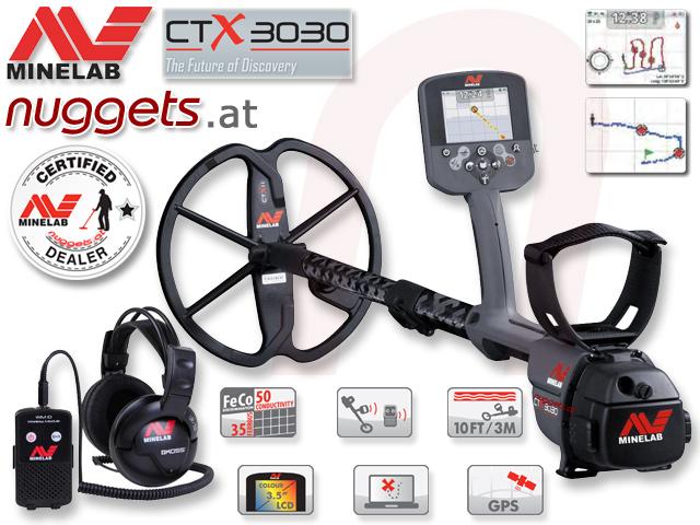 Minelab CTX3030 CTX 3030 Metalldetektor Metal Detector www.nuggets.at