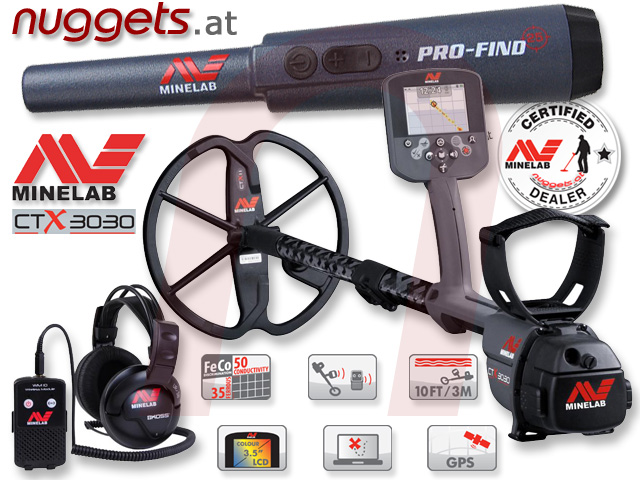 Minelab CTX3030 ProFind25 SET Special Christmas offer Weihnachts Aktion Metalldetektor OnlineShop www.nuggets.at