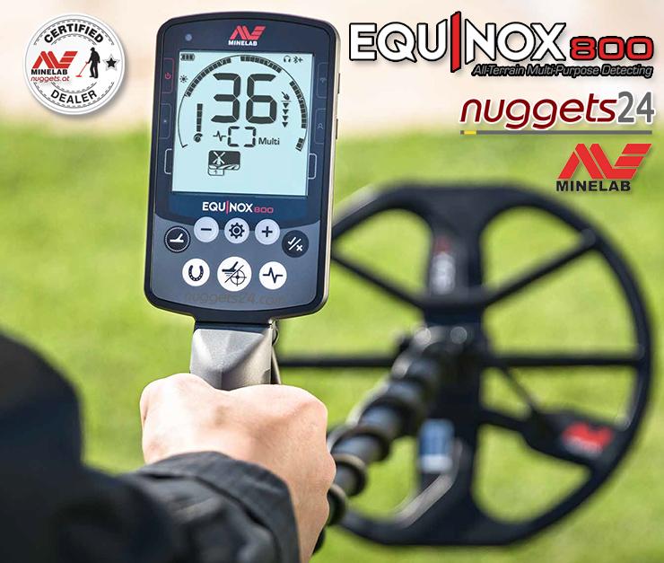 Minelab Equinox 800 und 600 bei nuggets24.com in deinem Metalldetektor Online Shop