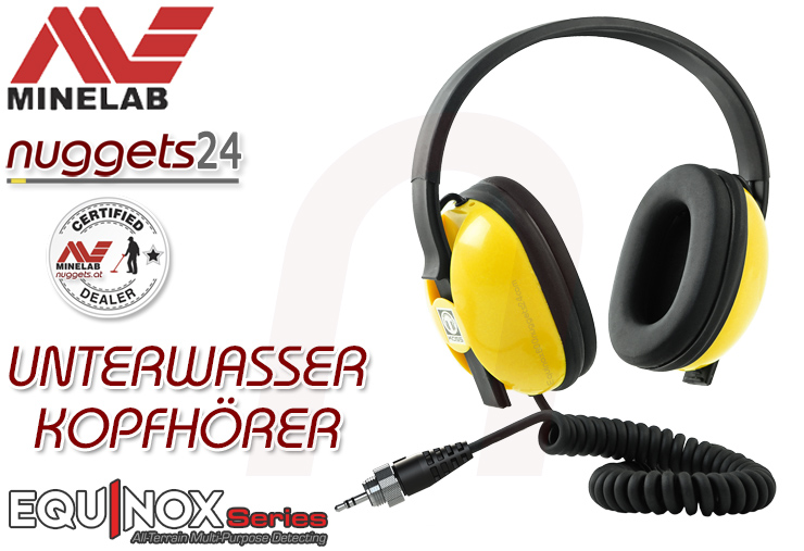 Minelab EQX Unterwasser Kopfhörer Headphone EQUINOX Metalldetektor www.nuggets24.com