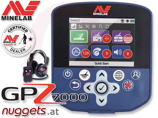 Minelab GPZ7000 from nuggets24.com best gold detector metaldetector for gold searching worldwide