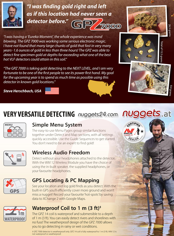 GPZ7000 Minelab Gold Detector No 1 www.nuggets24.com