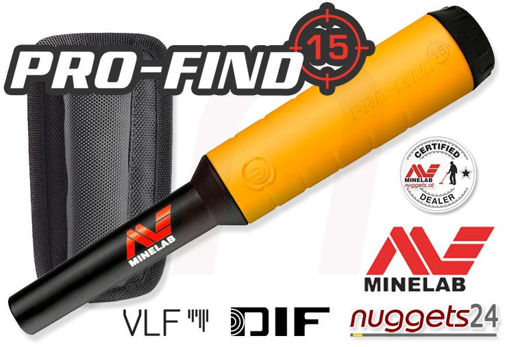 Minelab Pro-Find 15 PinPointer bei nuggets24 im Metalldetektor Sondengänger Shop