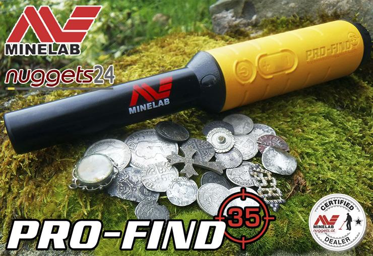 Minelab Pro-Find 35 PinPointer bei nuggets24 im Metalldetektor Sondengänger Shop