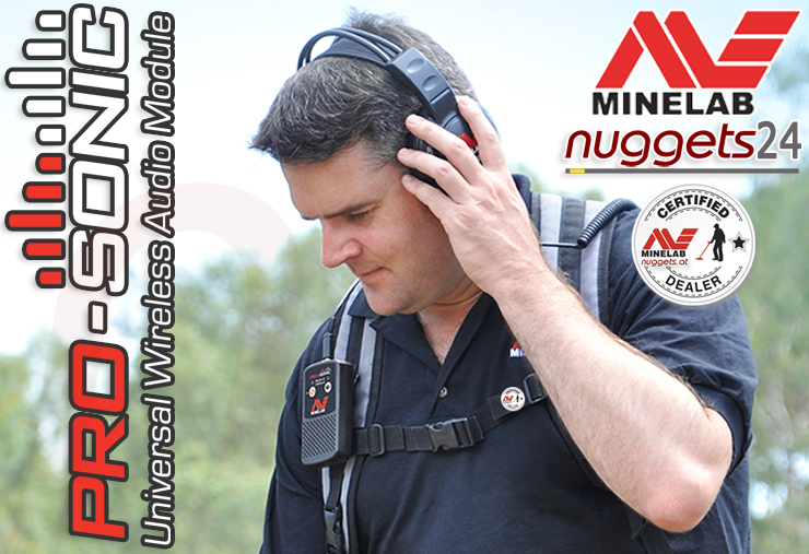 Minelab ProSonic wireless Funk Pro-Sonic Bedienungsanleitung nuggets24 Metalldetektor Shop
