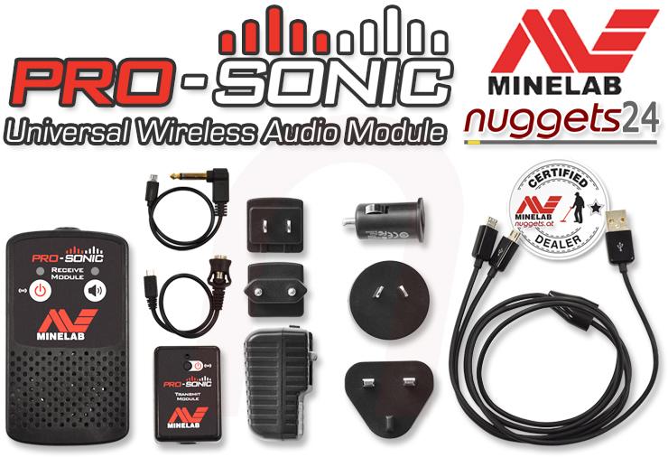 Mimelab Pro-Sonic wireless Funksystem für alle Metalldetektoren
