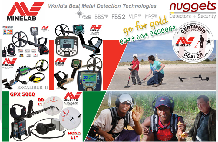 MINELAB Metal Detectors www.nuggets.at Safari E-Trac Excalibur GPX 5000