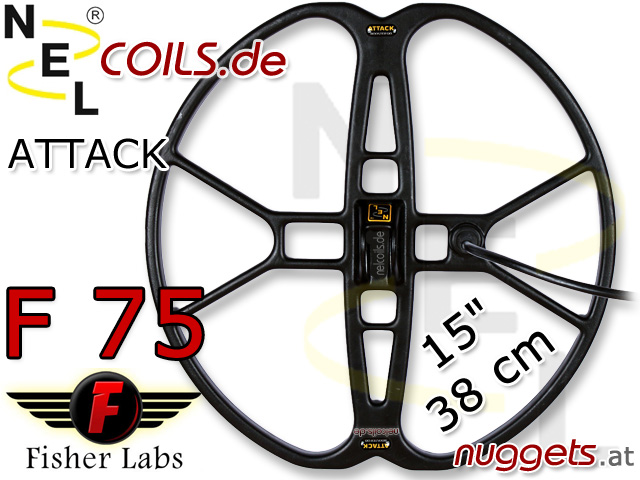 NEL Atttack Suchspule Fisher F75 Coil Coils Sonde Sonden www.nuggets.at