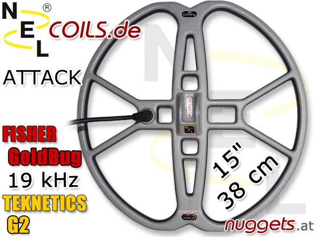 NEL AttackSuchspule Teknetics G2 Fisher Goldbug Coil Coils Sonde Sonden www.nuggets.at