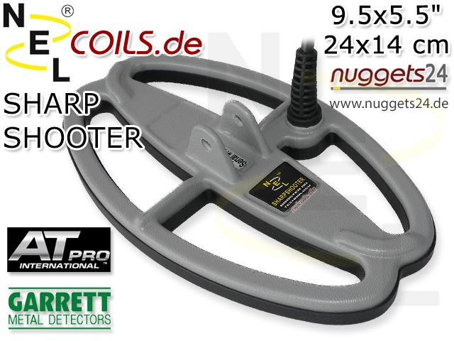NEL SharpShooter Suchspule Teknetics T2 T 2 Coil Coils Sonde Sonden www.nuggets.at