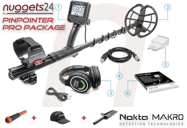 Nokta Makro ANFIBIO Metalldetektor bei nuggets24 im Metalldetektoren Online Shop www.nuggets24.de
