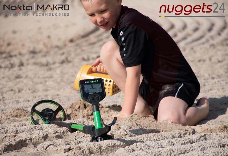 Kinder Schatzsuche Metalldetektor von Nokta Makro bei nuggets24 im Metalldetektoren Shop