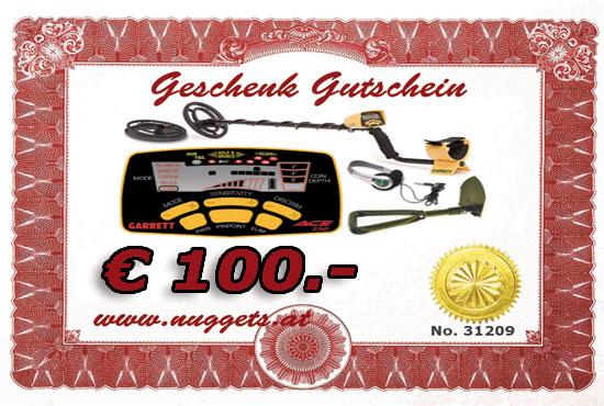 Schatzsucher Metalldetektor Gutschein 100 Euro www.nuggets24.de