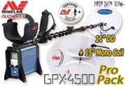 MINELAB GPX 4500 Duo Coil PRO PACKAGE Gold Detector...