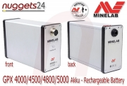 MINELAB Rechargeable Battery Akku GPX 4000 4500 4800 5000