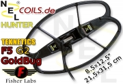 NEL Hunter Fisher GoldBug Teknetics G2 G2+ Coil Suchspule...