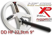 "XP DEUS 22,5 cm 9"" Doppel D HF High Frequency Coil..."