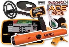 GARRETT ACE 200i ACE200i Premium AT DUO SET inklusive wasserdichter...