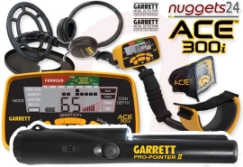 GARRETT ACE 300i ACE300i inklusive Pro-Pointer II PinPointer...