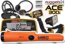 GARRETT ACE 300i ACE300i inklusive wasserdichter Pro-Pointer AT...