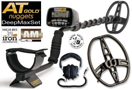 GARRETT AT GOLD DeepMax DeepSeeker Gold Detector Double Coil package SET...