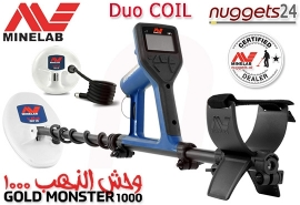 Minelab GOLD MONSTER 1000 Gold Detector Goldmonster DUO COIL Package...