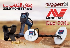 Minelab GoldMonster1000 Gold Detektor Gold Metalldetektor DUO COIL Set...