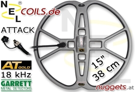 "NEL Attack Garrett AT GOLD 18 kHz Suchspule 15 "" 38 cm"