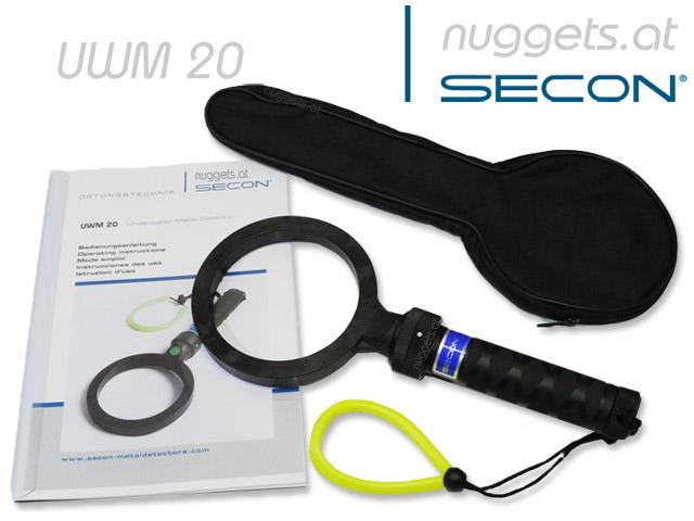 SECON UWM 20 www.nuggets.at Unterwasser Metalldetektor Dive UW Detector