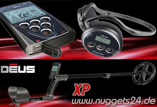 XP Deus 28 DD RC WS4 www.nuggets24.de Vollausstattung + LCD FB + Funkkopfhörer Metalldetetor Online Shop