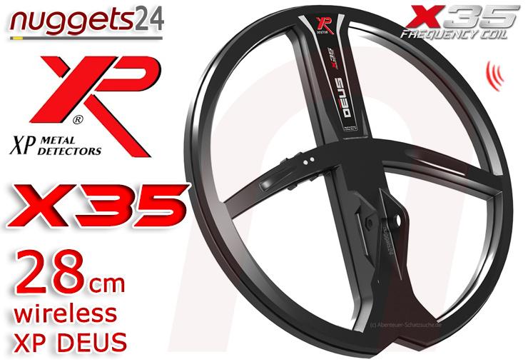 XP DEUS X35 28 cm Coil Coils Funkspule Funksuchspule nuggets24.com Metalldetektoren Online Shop Metal Detctor
