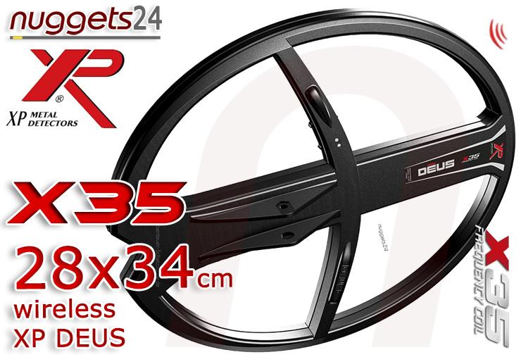 XP DEUS X35 28x34 28 x 34 cm Coil Coils Funkspule Funksuchspule nuggets24.com Metalldetektoren Online Shop Metal Detctor