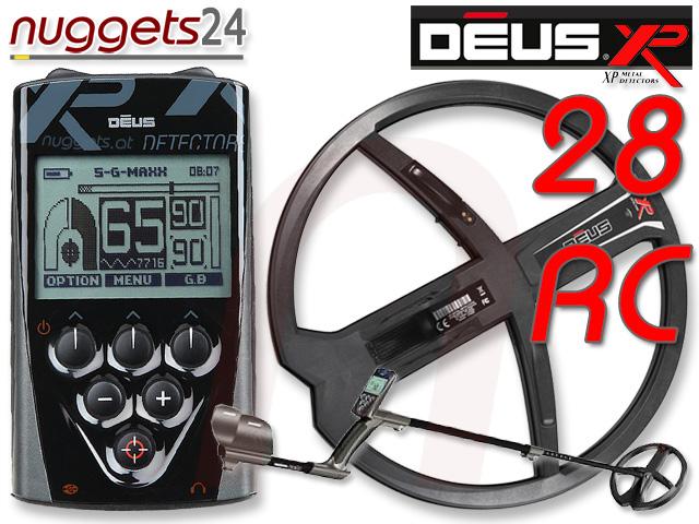XP Deus Profi Metalldetektor Set inklusive 28 cm DD Funkspule und LCD Funkfernbedienung www.nuggets24.de