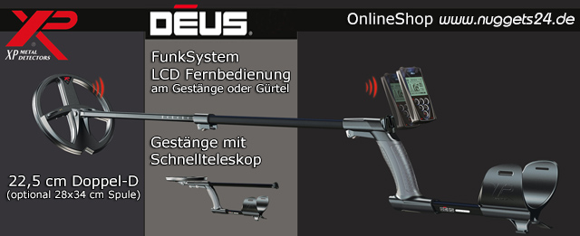 XP DEUS nuggets24.de Metalldetektor Online Shop kaufen