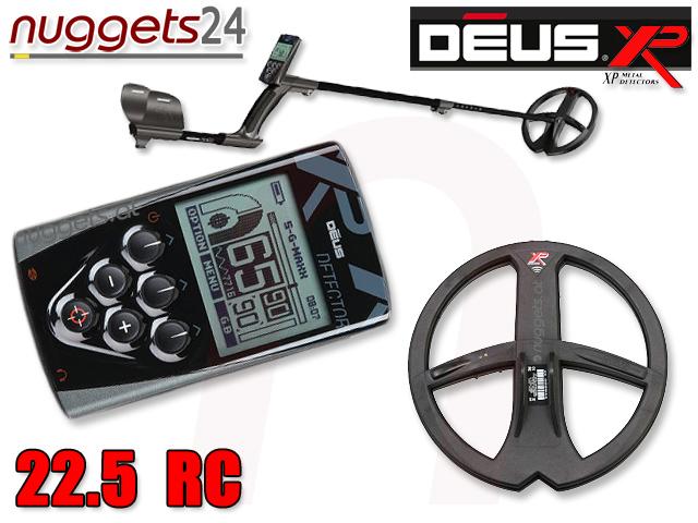 XP Deus Profi Metalldetektor Set inklusive Funkspule und LCD Funkfernbedienung www.nuggets24.de