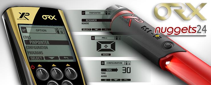 XP ORX Metalldetektor für Profi Schatzsuche bei nuggets24 im Sonderangebot inklusive MI-6 PinPointer