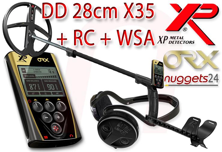 XP ORX Metalldetektor mit 28cm X35 Spule bei nuggets24 im Schatzsucher Shop für Sondengänger sofort lieferbar