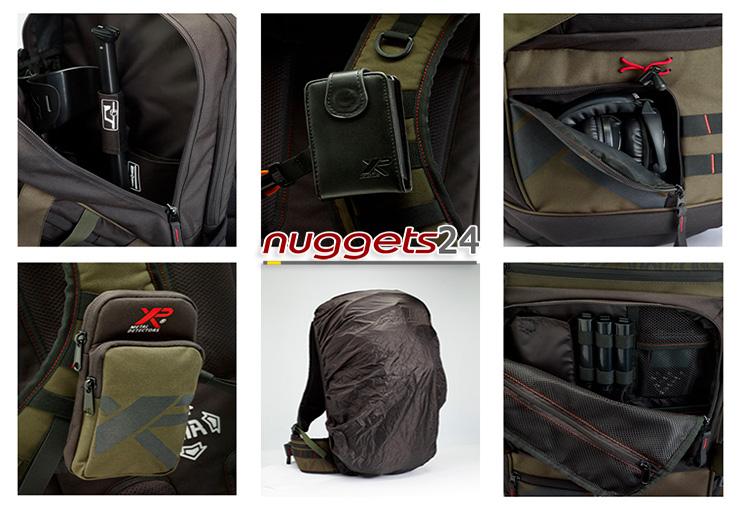 Rucksack Backpack für Sondengänger von XP bei nuggets24 im Metalldetektoren OnlineShop