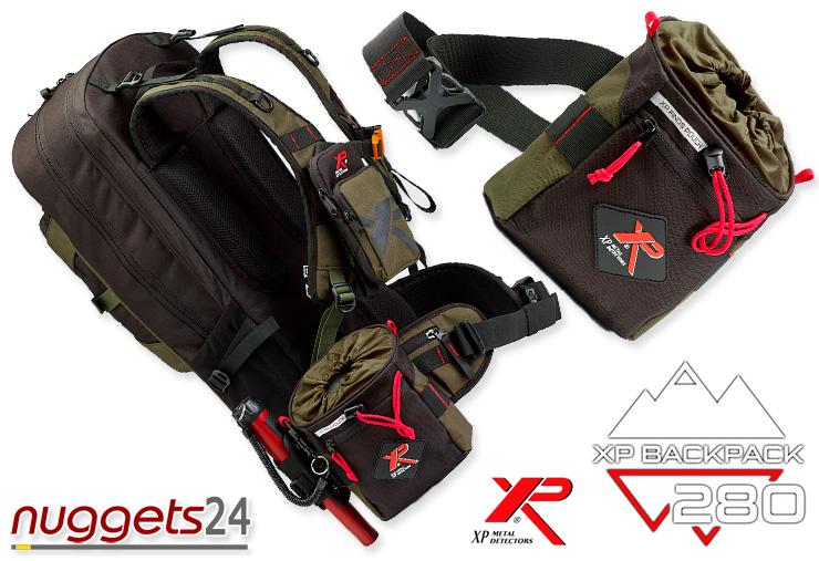 XP Fundtasche Pouch plus Backpack Metal Detector Metalldetektor Rucksack für Schatzsucher nuggets24com