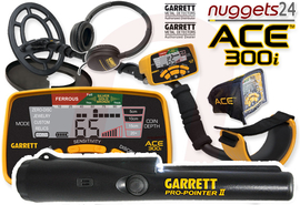 GARRETT ACE 300i ACE300i inklusive Pro-Pointer II PinPointer Metalldetektor DUO SET