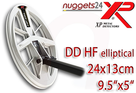 XP DEUS 24 x 13 cm 9.5x5 Doppel D HF High Frequency Coil SuchSpule
