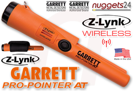 GARRETT AT MAX ATMAX + Pro Pointer AT Z-LYNK wireless FUNK DUO nuggets24 Set