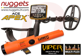 GARRETT APEX Metalldetektor nuggets24 DUO SET inklusive FUNK Pro-Pointer AT
