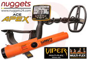 GARRETT APEX Metalldetektor nuggets24 DUO SET inklusive...
